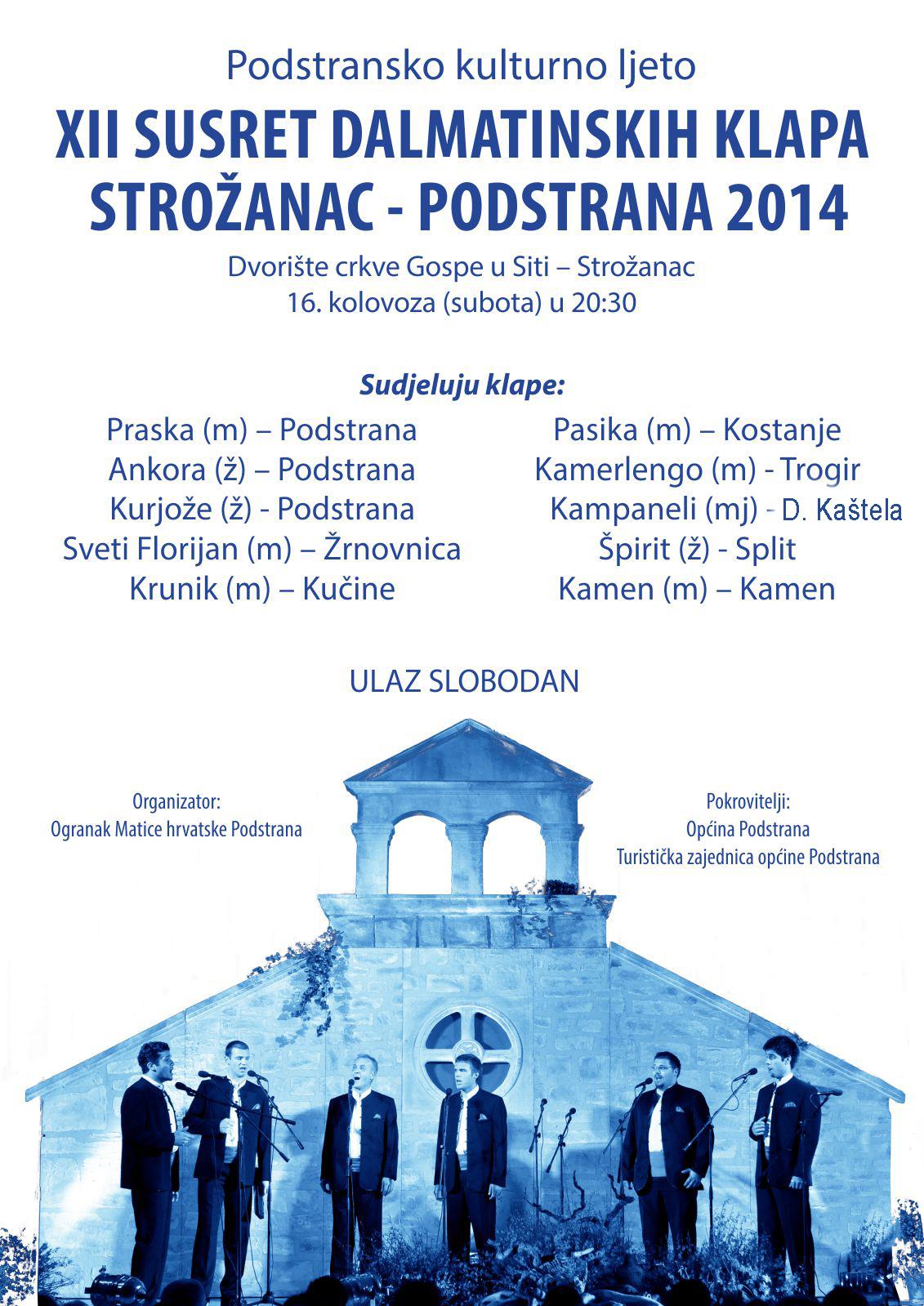 XII susret dalmatinksih klapi - Podstrana