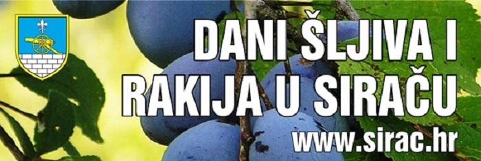 Dani šljiva i rakija u Siraču - banner